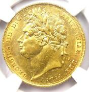 1824 Britain George Iv Gold Sovereign Coin 1s - Ngc Uncirculated Detail Unc Ms