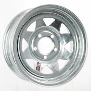 Trailer Rim Wheel 15 X 6 In. 15x6 5 Lug Hole Bolt Wheel Galvanized Spoke Design