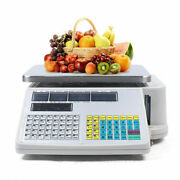 66lb 30kg Digital Weight Scale Price Computing Retail Food Meat Scales W/printer