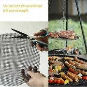 Bbq Grill Mat Mesh Non Stick Reusable Sheet Resistant Cooking Barbecue Pad Lot