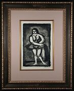 L' Ecuyere Original 1926 Lithograph By George Rouault Signed And Numbered Framed
