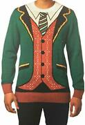 Menand039s Ugly Christmas Sweaters - Santa Claus Reindeer Or Christmas Suit Large. P