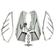 Mid-frame Air Deflector W/ Trims Chrome Fit For Harley Touring Trike 2009-2016