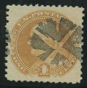 112 Xf-superb Used Gem With Fancy Circle Wedge Cancels Bv3554