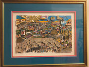 Charles Fazzino Next Year In Jerusalem Rare 3d Serigraph Framed Signed 270/475