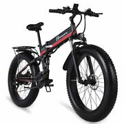 Electric Bike 1000w New Super Level Snow Folding Bicycle 4.0 Fat Tire 48v12ah