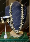 Vintage Miriam Haskell Pearls And Crystals Necklace And Earrings Marketed