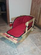 Ll Bean Small Kids Pull Sled Childs Sleigh Vg Condition