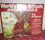 Vintage 1987 Devils Dilema The Worlds Most Difficult Jigsaw Puzzle Unicorn New
