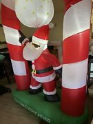 Tangkula 8 Ft Inflatable Christmas Stocking Arch With Disco Santa Claus Blow ...