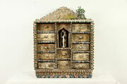 Peruvian Folk Art 12 Drawer Carved And Painted Keepsake Or Jewelry Chest 35100