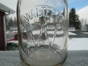 Treq Milk Bottle W W Walter And Sons Farm Dairy Maine Ny Broome County 1941 Rare