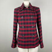 Cabi Snow Valley Red Plaid Jacket Coat Fall 2019 3852 Size Xs