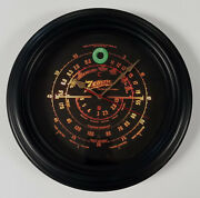Old Antique Style Zenith Black Dial Wall Clock - Vintage Wood Tube Radio Style