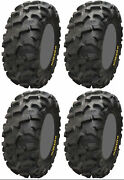 Four 4 Itp Blackwater Evolution Atv Tires Set 2 Front 28x9-14 And 2 Rear 28x11-14