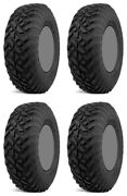 Four 4 Fuel Gripper Utv Trk Atv Tires Set 2 Front 35x10-15 And 2 Rear 35x10-15