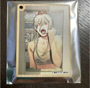 Chainsaw Man Power Ani-cafe Limited Wooden Key Chain Japan Anime
