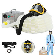 Electric Long Tube Flow Supplied Fresh Air Respirator System Full Face Gas Mask