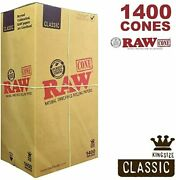 Raw Classic King Size Pre Rolled W/filter Tips Full Box Free Shipping 1400 Cones