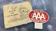 Aaa Rocky Mountain Trunk Tag Chevrolet Accessory Topper Reflective Nos Cali