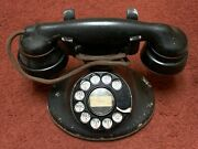Antique Western Electric E1 Rotary Telephone Black Phone Vintage Old Mid Century