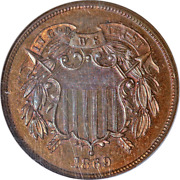 1869 Two 2 Cent Piece Proof Ngc Pr65rb Great Eye Appeal Strong Strike