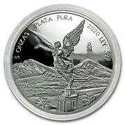 In Stock Libertad Mexico 2020 5 Oz Proof Silver Coin In Capsule Mintage Of 2950