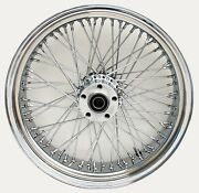 Ultima 36-970 Chrome 60 Spoke Rear Wheel W/ Billet Hub 16andrdquox 3.5andrdquo 1 Axle