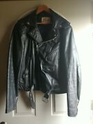 Vintage 1987 Bermanand039s Motorcycle Leather Jacket Size 44 Long 44l