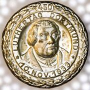 88 Year-old 1933 Dortmund Martin Luther / Reformation Silvered Pin / Badge