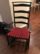Antique Mount Lebanon Shaker No 7 Rocking Chair Brand New Red/black Seat Marked