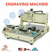 2.2kw Usb 4axis Cnc 6090z Engraving Machine 4 Rotating Axis Milling Ball Screw Z