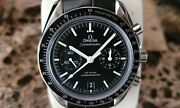 Omega Speedmaster Moonwatch Menand039s Watch Black Dial Co-axial 9300 Chronograph