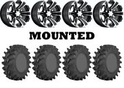Kit 4 Sti Outback Max Tires 30x10-14 On Itp Ss312 Black Wheels Can