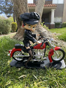 Vintage 1999 Betty Boop Biker Doll And Motorcycle Collectible