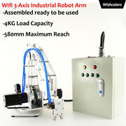 Wifi 3-axis Industrial Robot Arm Assembled Load Capacity 4kg W/ Pneumatic Claw W