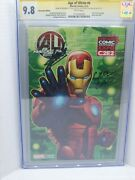 Age Of Ultron 6 Cgc 9.8 Signature Series Stan Lee, Land, Convention Edition