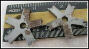 Pair Of Rough Stock Iron Spur Rowels 5 Points 1 1/4 Across Have Slight Rust