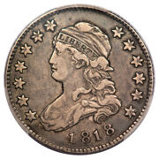 1818 25c Browning 5 Capped Bust Quarter Pcgs Vf30 R4+