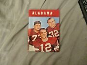 1961 Alabama Football Media Guide Yearbook Bear Bryant 1st Title Program College
