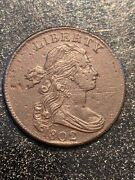 1802 Draped Bust Large Cent Grade Rarity Ch Xf-au