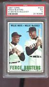 1967 Topps 423 Fence Busters Willie Mays Willie Mccovey Psa 5 Graded Card Mlb