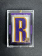 2007 Topps Letterman Kobe Bryant Patch Letter R - Numbered 7/9 Non Auto