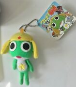 Sgt. Frog Keroro 4 Key Chain Plush Anime Japanese Tag Star Emblem Collectible