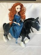 Disney Store Exclusive Brave Merida Doll And Her Horse Angus Rare Set