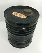 Antique Dupont 6 1/4 Lb Black Powder Can With Cap And Labels Empty