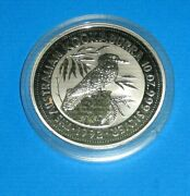 1992 Silver 10 Ounce Kookaburra Coin In Capsule Of Issue Nice
