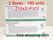 100 Units 2 Box Of 367281 Butterfly 21g Vacutainer Collection Set 2022/07