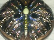 Jg-140 Jay Strongwater Butterfly Mirror Compact Exquisite Enamel And Crystal