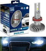 Philips X-treme Ultinon Led White H11 Two Bulbs Head Light Low Beam Replace Oe
